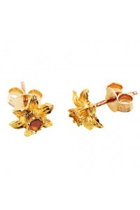 Cymru Gold 9ct Gold Daffodil Stud Earrings WD10