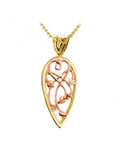 Cymru Gold 9ct Gold Tree Of Life Shield Pendant WP345