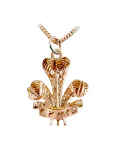 Cymru Gold 9ct Rose Gold Large POW Feathers Pendant WP8