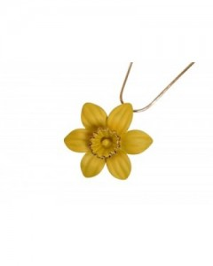 18ct Gold Plated Daffodil Pendant N1250 Gold