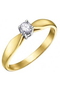 9ct Gold 0.05ct Diamond Engagement Ring 1579/5-9