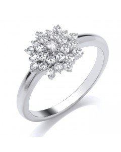 9ct White Gold Diamond Engagement Ring R1690 W9