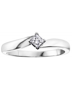 9ct White Gold Diamond Engagement Ring R1851WG-10-10