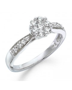 9ct White Gold Diamond Engagement Ring R25109050 W9