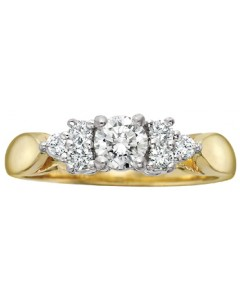 9ct Gold Diamond Engagement Ring R2777-15
