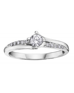9ct White Gold Diamond Engagement Ring R3234WG-9