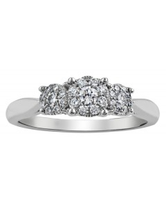9ct White Gold Diamond Engagement Ring R3259WG-26-9