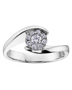 9ct White Gold Diamond Engagement Ring R3269WG-26-9