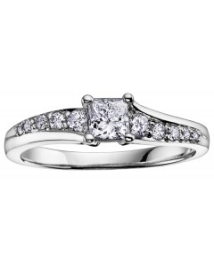 9ct White Gold Diamond Engagement Ring R3307WG-30