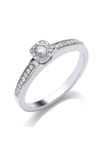 9ct White Gold Diamond Engagement Ring R4282014 W9