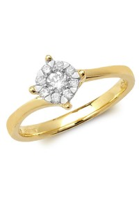 9ct Gold Diamond Engagement Ring RD122