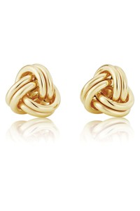 9ct Gold 3 Section Knot Stud Earrings ER850
