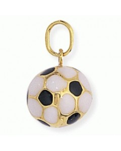 9ct Gold Enamel Football Charm FA216