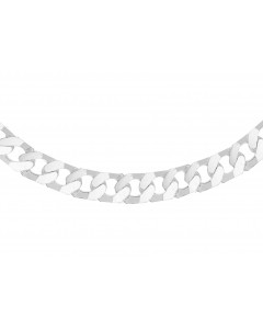 """Sterling Silver Gents 20"""" Square Curb Chain 8.13.7025"""