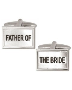 Rhodium Plated Father Of The Bride Cufflinks 90 0227
