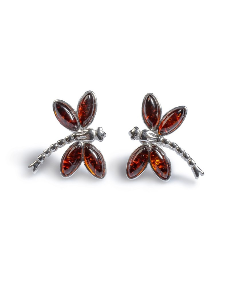 79d4c4704 Henryka Sterling Silver Amber Dragonfly Stud Earrings 6E323-C-COS