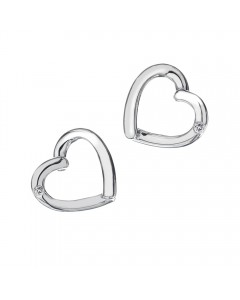 Hot Diamonds Sterling Silver 'Just Add Love' Earrings DE237