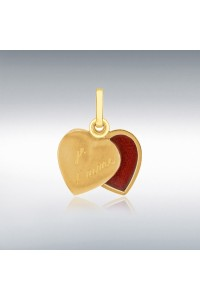 9ct Gold 12mm 'Je t'aime' Heart Locket 1.65.2753