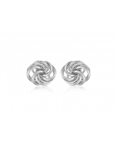 Sterling Silver Open Knot Stud Earrings 8.55.8519