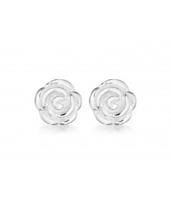 Sterling Silver Rose Stud Earrings 8.58.6072