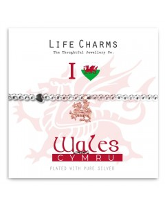 Life Charms I Love Wales Dragon Bracelet 5060460079539