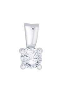 18ct White Gold 0.50ct Diamond Pendant P50-18PCW