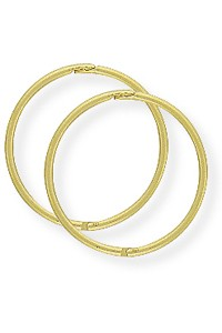 9ct Gold 16mm Hinged Sleepers SE955