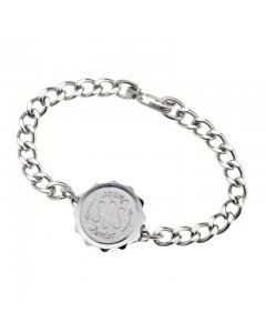 SOS Talisman Chrome Plated Junior Plain Bracelet 231 199