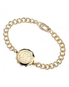 SOS Talisman Gold Plated Ladies Plain Bracelet  232 311