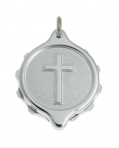 SOS Talisman Chrome Plated Christian Cross Pendant 221 159