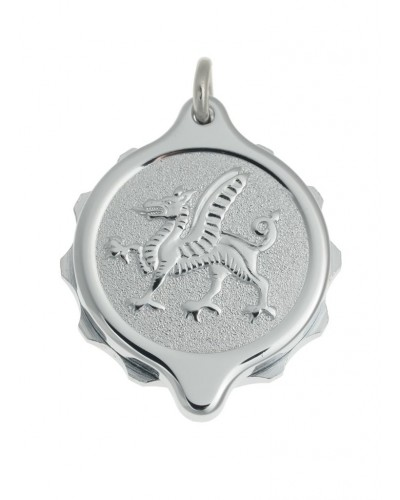 SOS Talisman Chrome Plated Welsh Dragon Pendant 221 166