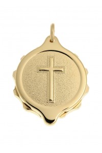 SOS Talisman Gold Plated Christian Cross Pendant 222 358