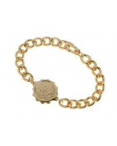 SOS Talisman Gold Plated Gents St Christopher Bracelet 232 335