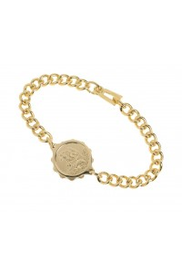 SOS Talisman Gold Plated Ladies St Christopher Bracelet 232 336