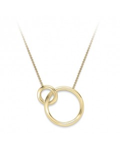9ct Gold Interlocking Rings Necklet CN132-17