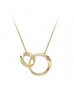 9ct Gold Interlocking Twisted Rings Necklet CN133-17