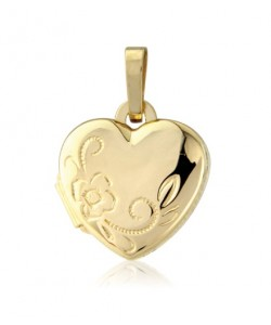 9ct Gold 10mm Heart Shaped Locket LK199