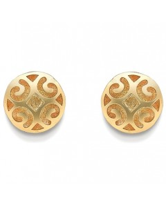 9ct Gold Pierce Worked Dome Studs SE228
