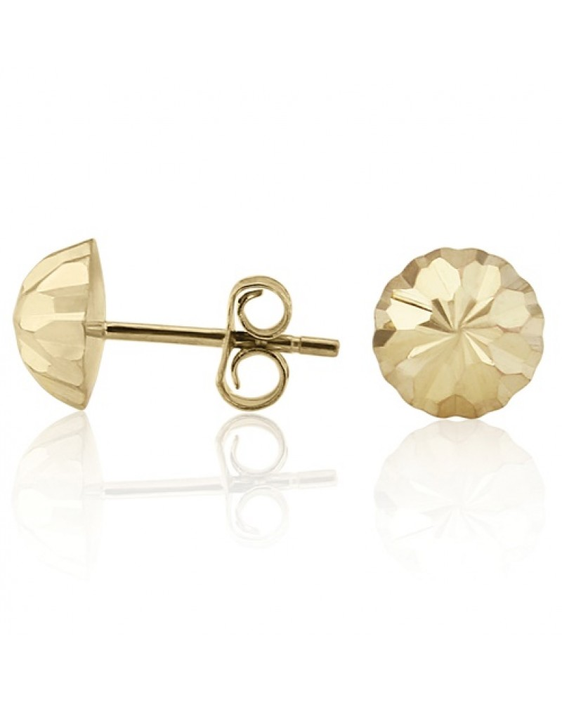 a5839bb18 9ct Gold 7mm DC Dome Stud Earrings SE555