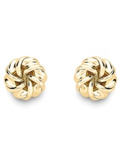 9ct Gold Twisted Knot Studs SE579