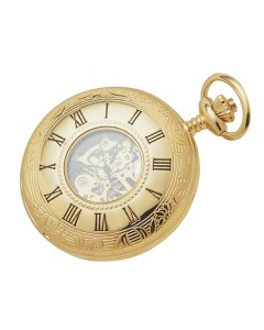 Woodford Half Hunter Skeleton Pocket Watch 1021