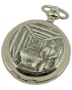 Woodford Full Hunter Miner & Lamp Pocket Watch 4942