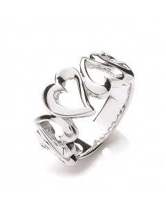 Purity 925 Sterling Silver Open Hearts Ring PNC2002/3