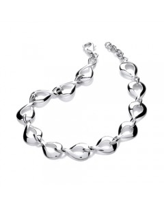 Purity 925 Sterling Silver Figure of Eight Bracelet PUR0135/3