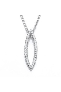 Purity 925 Sterling Silver Marquise CZ Pendant PUR1077PS