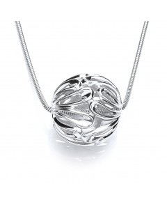 Purity 925 Sterling Silver Sphere Pendant PUR1921/1/RSS