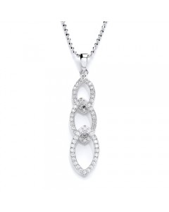 Purity 925 Sterling Silver Marquise CZ Pendant PUR3064PS