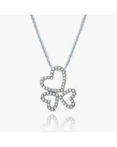 Real Effect Sterling Silver 3 Hearts CZ Pendant RE25944CZ