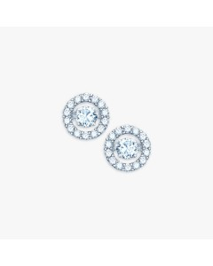 Real Effect Sterling Silver Dancing CZ Stud Earrings RE30994CZ