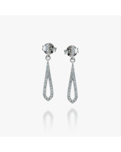 Real Effect Sterling Silver CZ Teardrop Droppers RE35264CZ